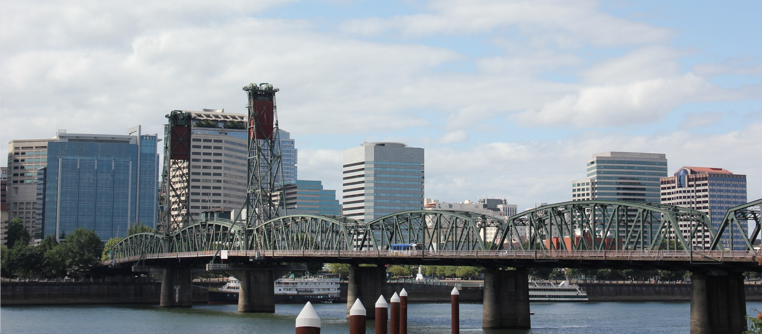 Bridge in downtown Portland